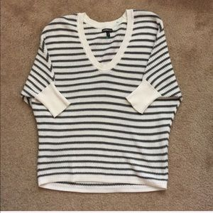 EXPRESS striped cotton sweater